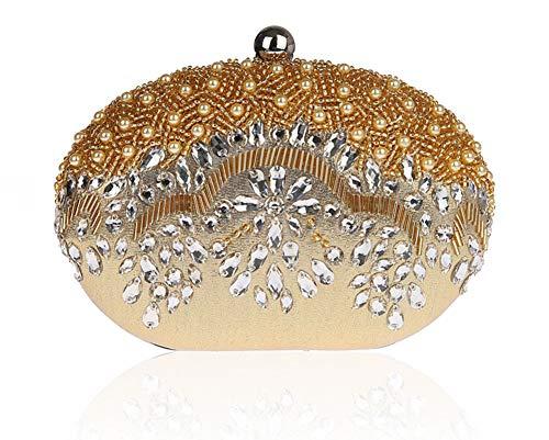 Perles Strass soirée Parti d'autres Sacs à 18x14cm Luxe pour Pochette Diamants E de Brille Bal Main de fériés Et de A Incrusté Jours 7x6inch soirée Sac Bridal 1dqtUId