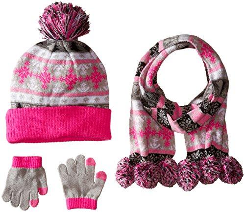 Pink Platinum Girls Glove Scarf
