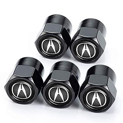 PATWAY 5 Pcs Metal Car Wheel Tire Valve Stem Caps for Acura RLX RDX MDX ILX TLX Logo Styling Decoration Accessories.: Automotive