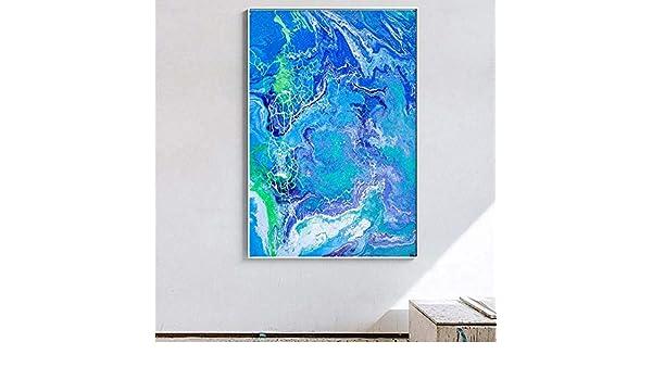 NIMCG Arte Abstracto Pintura Costera decoración del hogar ...
