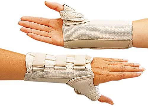 Rolyan A6152 D-Ring Wrist and Thumb Spica Splint for Right Wrist, XS