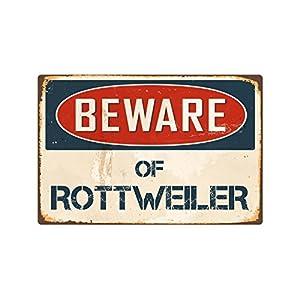 """StickerPirate Beware of Rottweiler 8"""" x 12"""" Vintage Aluminum Retro Metal Sign VS362 7"""