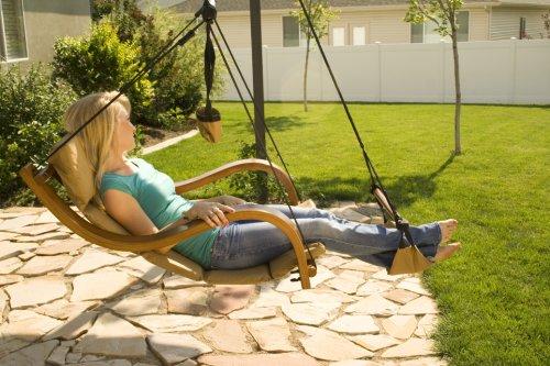 Amazon.com: Hammaka Nami Deluxe Hanging Hammock Lounger Chair In Blue:  Garden U0026 Outdoor