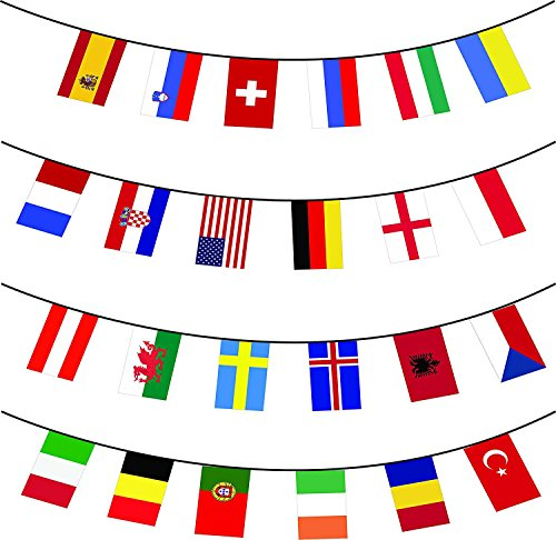 Countries Flags Banners String Pennant Banner Decorations for Outdoor Indoor,Grand Opening,Bar,Restaurants,Sports Clubs,Party Events (Grand Opening Pennants)