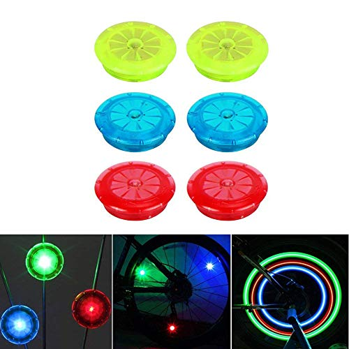 Spoke Light, 6Pcs Bicycle Spoke Bike Steel Wire LED Wheel Balancing Wheel Decorative Lamp By Ugood