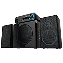Arion Legacy 3 Piece Gaming 2.1 Speaker System 72 Watts with Refined Midrange, Powerful Subwoofer and Control Box Connects PC, MP3, Headphone, Microphone and Charges USB Devices (Deep Sonar 300)