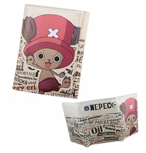 new Cuero Piel Cartera Multi-bolsillos Cartera hombre Purse Gato Rosa One Piece rare