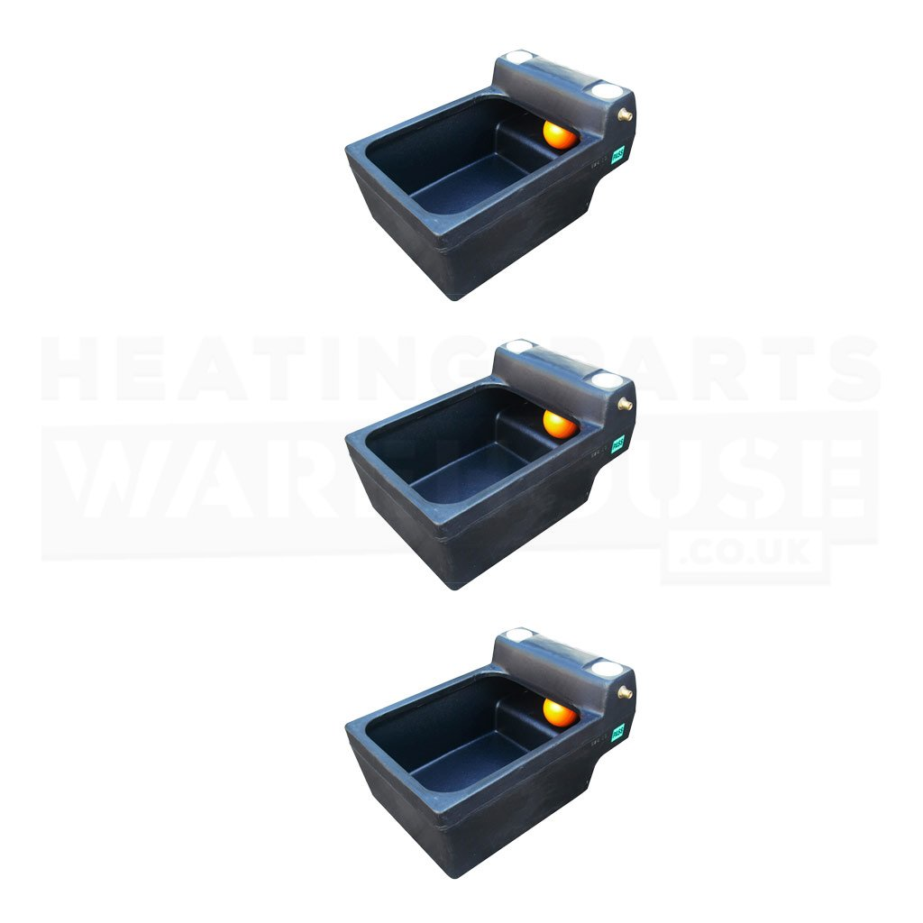 12 Gallon (3 Pack) Titan 12 Gallon Horse Cattle Drinker Agricultural Water Trough (Black)