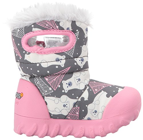 Grey Waterproof Moc Toddler B Boot Kids' Bears Multi Winter Dark Bogs Insulated twZvqv