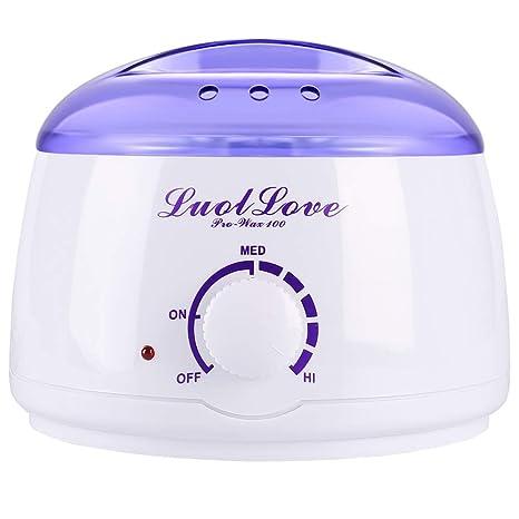 LUOLLOVE® Calentador de Cera Profesional 400ml Máquina Cera Caliente,Control de Temperatura Inteligente,