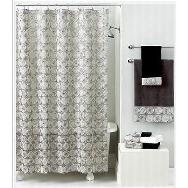 Avanti Linens Galaxy Shower Curtain, Silver
