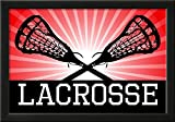 Lacrosse Red Sports Poster Print Framed Poster 21 x 15in