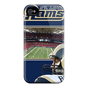 High Quality Hard Phone Covers For Iphone 6plus (sFM4245Mhhn) Allow Personal Design Lifelike St. Louis Rams Image
