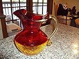 Stunning Mid Century Arberina Crackle Glass Large
