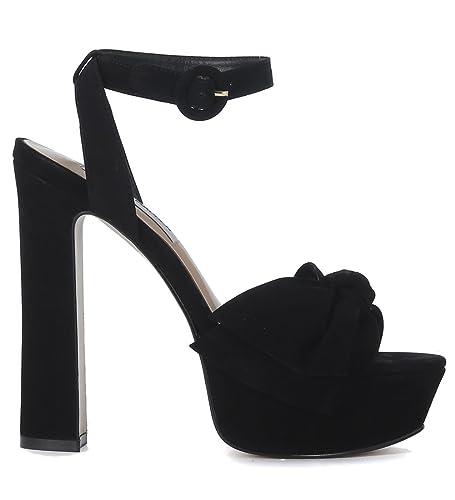 Steve Madden Sandal à talon  Breena en nabuk noir Noir - Chaussures Escarpins Femme