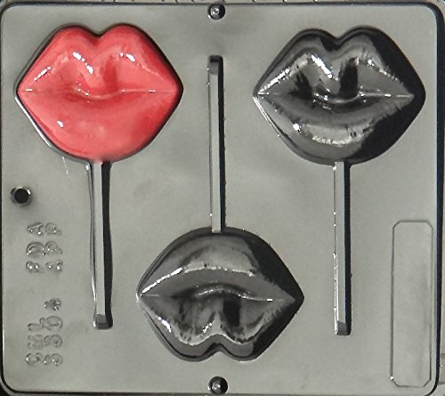 Lips Lollipop Chocolate Candy Mold 3304