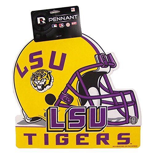 (Rico LSU Tigers Official NCAA 15 inch x 12 inch Helmet Die Cut Pennant by 334499)
