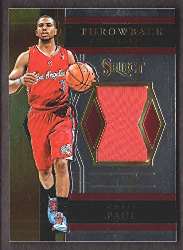 2017-18 Select Basketball Throwback Memorabilia #TM-CP3 Chris Paul Jersey Los Angeles Clippers (Clippers Cp3 Jersey)