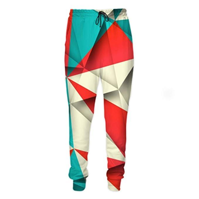 Bsrale Moda para Hombre 3D Pantalones Patrones geométricos Imprimir Hombres Mujeres Casual Joggers Pantalones: Amazon.es: Ropa y accesorios
