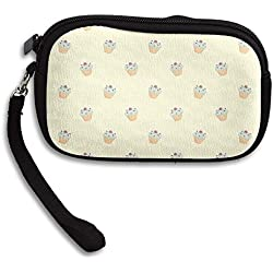 Zipper Small Wallet Strawberry Cup Cake Women's Purse Porte-monnaie Clutch Cards Holder Wallet Purse Business Card Wallet