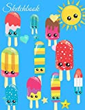 Sketchbook: A Pastel Theme Cute Kawaii Popsicles