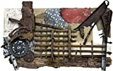 VINTAGE INDUSTRIAL Reclaimed Metal Wood Wall Art