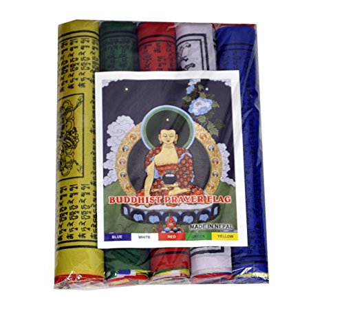 Dharma Store - Tibetan Buddhist Prayer Flags 8.5 Inch for luck, happiness, longevity and prosperity - Pack of 50