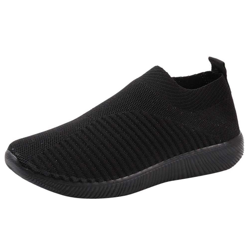 LIM&Shop ❤ Women Mesh Slip-On Casual Walking Breathable Work Out Sneakers Men Walking Shoes Spors Shoes Lightweight Black
