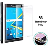 Transparent Full Screen Coverage 3D Curved Edge Tempered Glass for BlackBerry Priv (CLEAR)