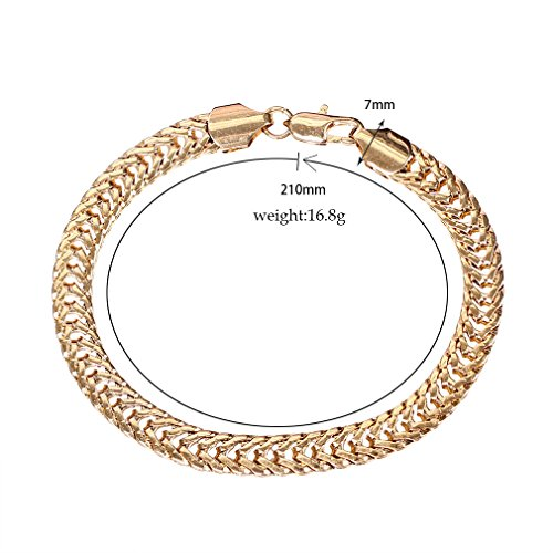 YAZILIND 18K Femmes Serpent style plaqué zircone cubique or creux-out Bracelet Cuff Bangle or