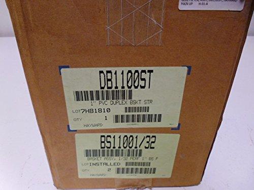 Hayward PVC Basket Strainer, Duplex, FPM Seal, 1'' Socket/Threaded by Hayward