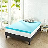 Zinus 3 Inch Gel Memory Foam, King Mattress Topper,