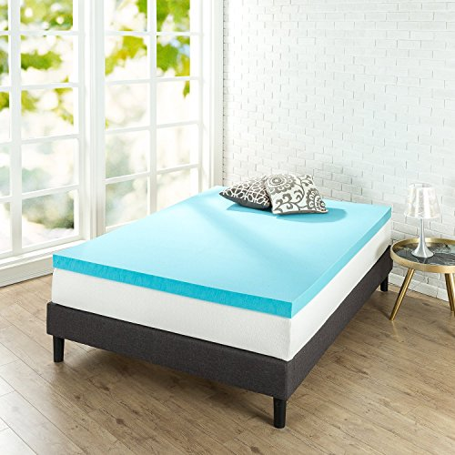 Zinus 3 Inch Gel Memory Foam, Queen Mattress Topper, - Beds Twin Mart Wal
