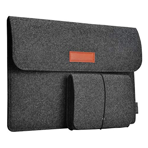 Laptop Sleeve, dodocool 12 Inch Felt Sleeve Case Protective Bag with Felt Pouch for 12
