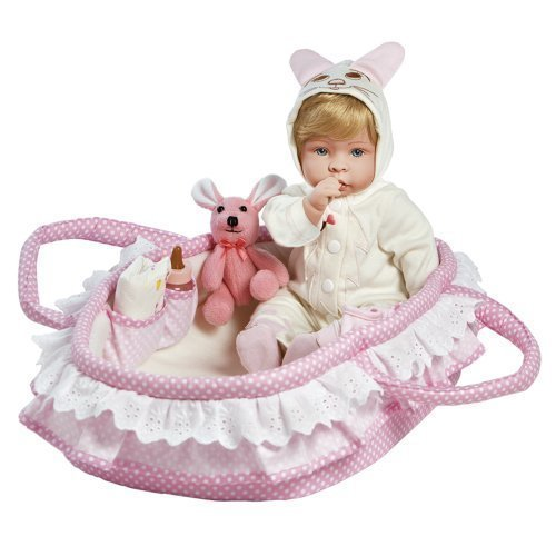 Paradise Galleries Reborn Baby Doll Like Real LifeBaby Doll, Molly & Fluffy, Girl Doll Crafted in Soft Vinyl and Weighted Body, 18 inch