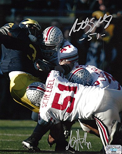 best sneakers 79cf6 80939 Anthony Schlegel and AJ Hawk Autographed Ohio State Buckeyes ...