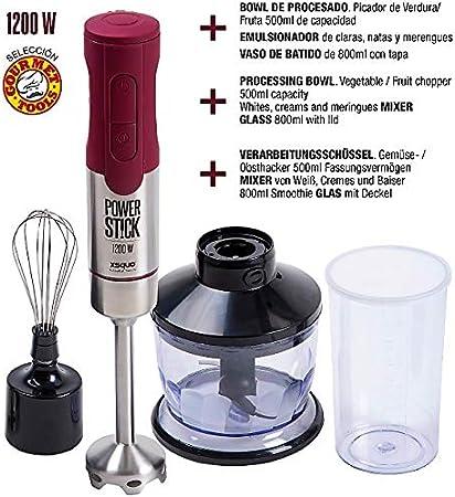 XSQUO Useful Tech Rebajas!! Batidora de Mano de máximo Rendimiento 1200 W. Batimatic Power Stick: Amazon.es