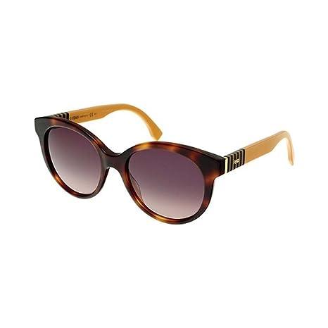 70030a581309 Fendi Flared Round Sunglasses in Havana Yellow FF 0013/S 7TA 53: Amazon.ca:  Clothing & Accessories