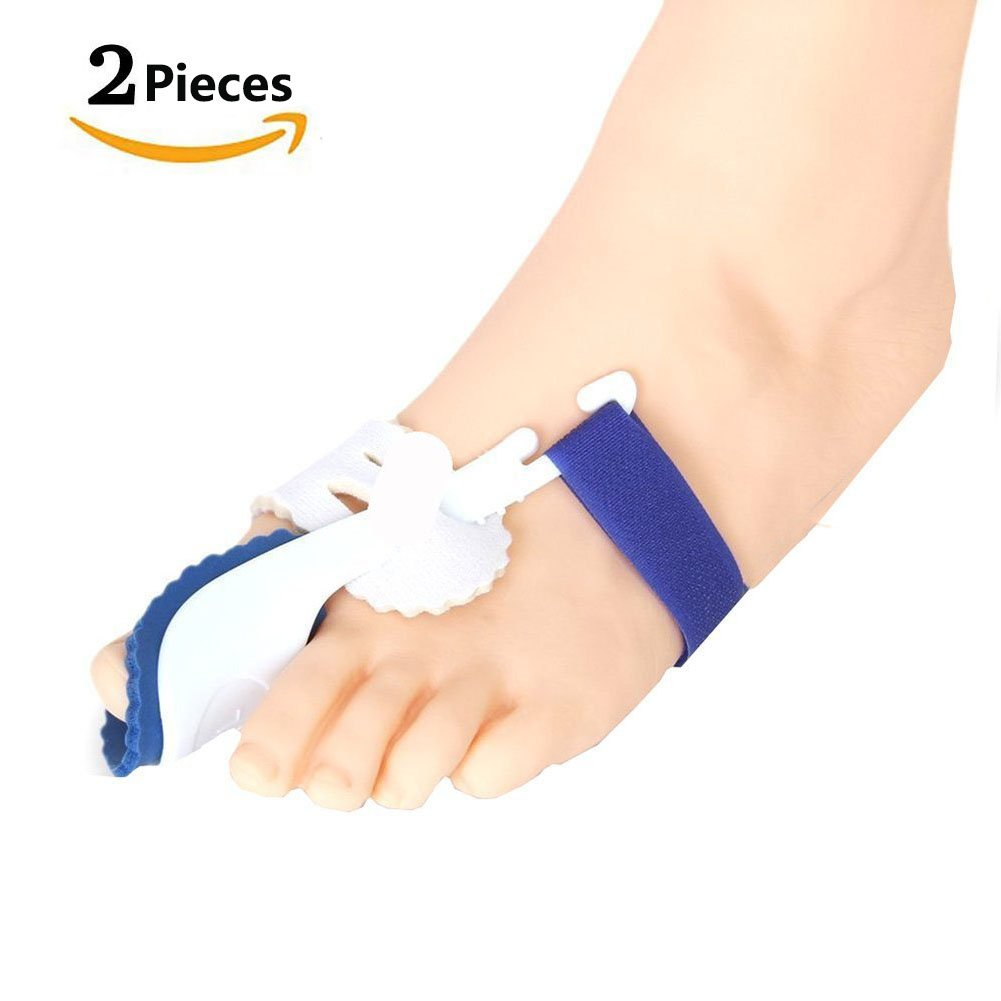Bunion Corrector & Bunion Relief Protector Kit - Treat Pain in Hallux Valgus, Tailors Bunion, Big Toe Joint, Hammer Toe, Toe Separators Spacers Straighteners Splint Aid Surgery Treatment