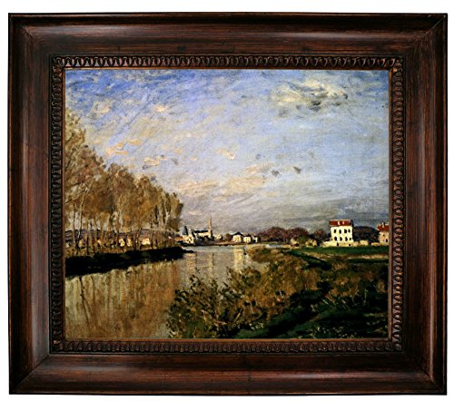 Historic Art Gallery The Seine at Argenteuil-Vanilla Sky by Claude Monet Framed Canvas Print, 20