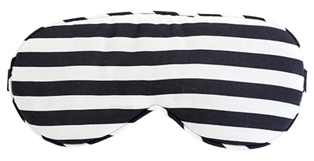 Louvelle - Chloe Eye Mask (Monochrome Stripe) by Louvelle