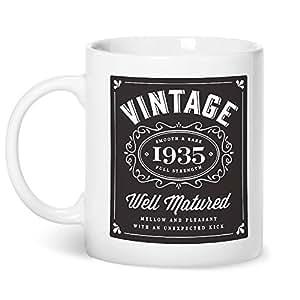 80th Birthday, de 1935, de la vendimia de la taza de café de Bourbon
