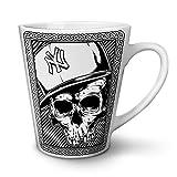 New York City Skull Death Gang White Tea Coffee Ceramic Latte Mug 12 oz | Wellcoda