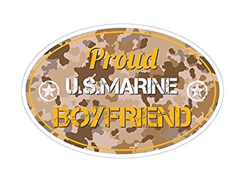 3 Pack - Proud US Marine Boyfriend Bf Bumper Sticker Vinyl Decal Camouflage