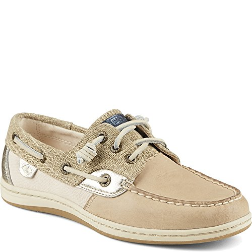 B Boat Sparkle 5 5 Songfish M Women's Sider Linen Metallic Sperry Shoe Top 7pwXxg
