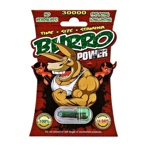 Burro Power 30000 Super Male Enhancer | Maximize Performance | Set of 4 Pills | Made in USA