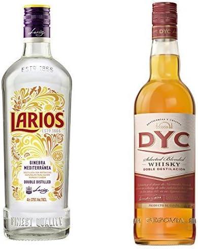 Larios - Ginebra Mediterranéa, 0.7 l + Dyc - Whisky 5A, 40º ...