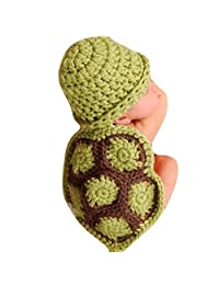 Changeshopping 1 PC Newborn Baby Turtle Knit Crochet Beanie Hat Outfit Photo Props