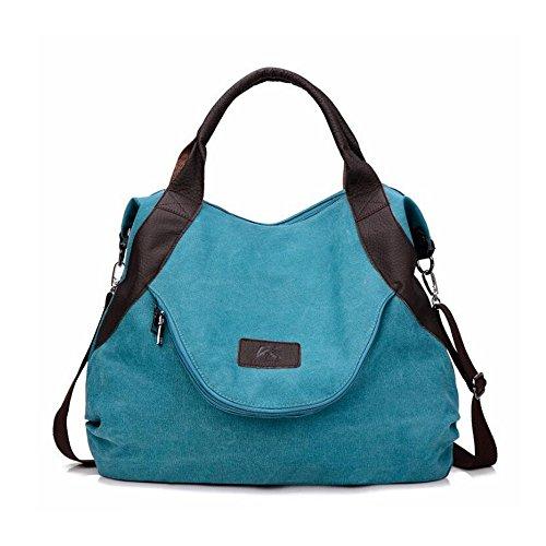 Khaki Blue Tracolla Borse color Klerokoh A Donna Da YTwfnq