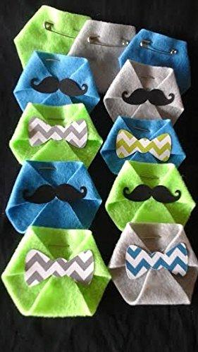 Baby Shower Game 24 pack Dirty Diaper Game Little Man Mustache Chevron Bowties Green,Blue,Grey